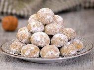 Коледни маслени сладки курабийки с локум и орехи